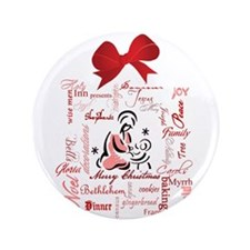 "The gift of Christmas 3.5"" Button"