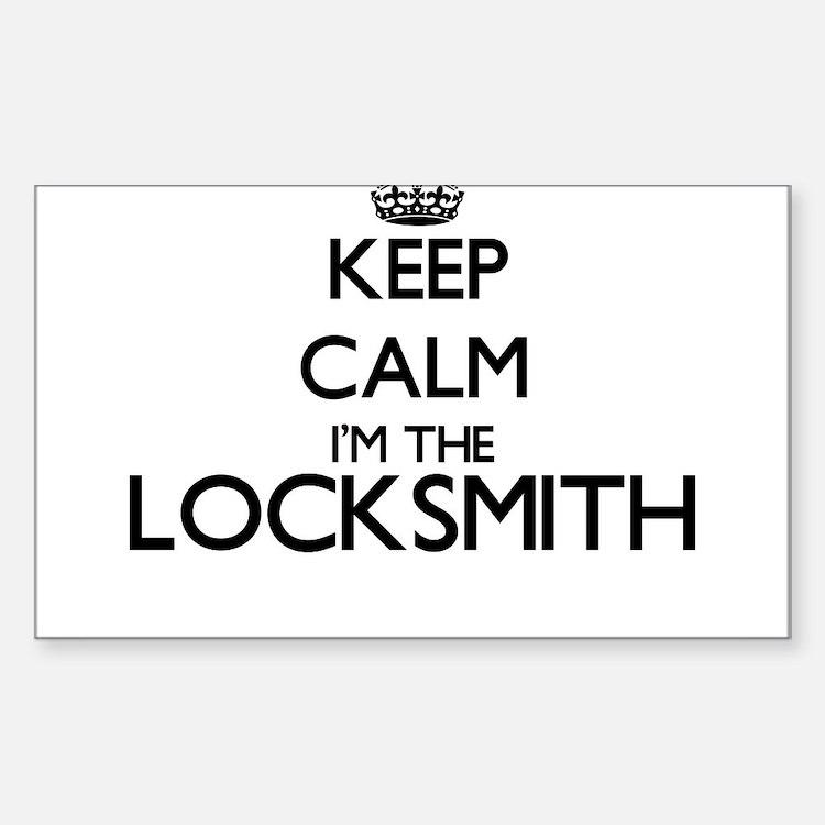 Keep calm I'm the Locksmith Decal