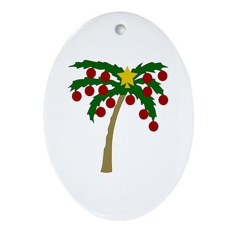 Christmas Palm Tree Oval Ornament