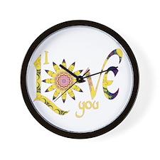 I Love You - Omm Wall Clock