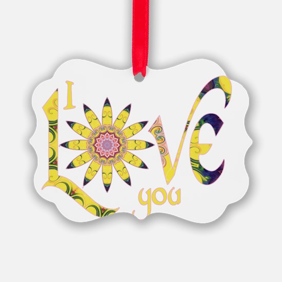 I Love You - Omm Ornament