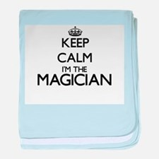 Keep calm I'm the Magician baby blanket
