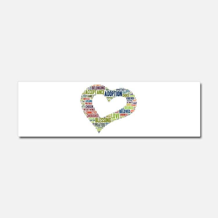 heart fulfilled Car Magnet 10 x 3