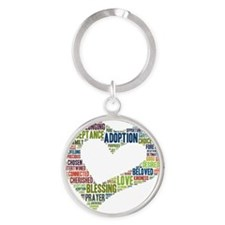 heart fulfilled Round Keychain