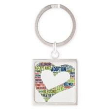 heart fulfilled Square Keychain