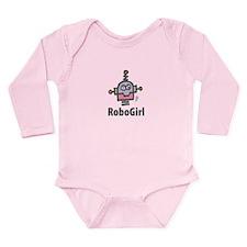 RoboGirl Long Sleeve Infant Bodysuit