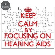 Keep Calm by focusing on Hearing Aids Puzzle