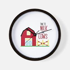 Milk The Cows Wall Clock
