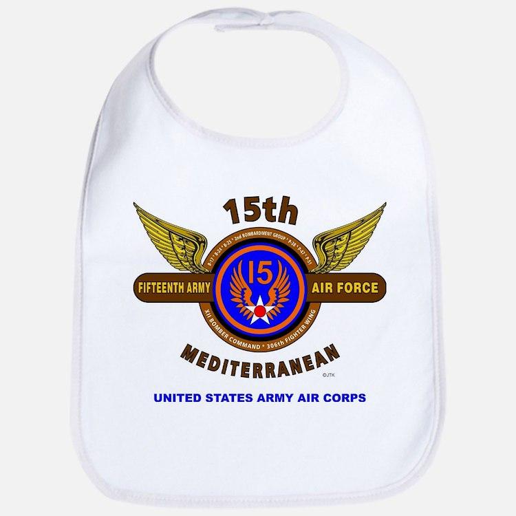 15TH ARMY AIR FORCE* ARMY AIR CORPS* WORLD WAR Bib