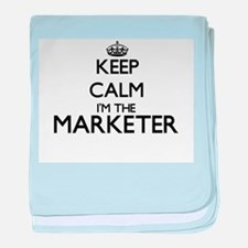 Keep calm I'm the Marketer baby blanket