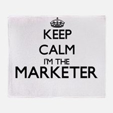 Keep calm I'm the Marketer Throw Blanket