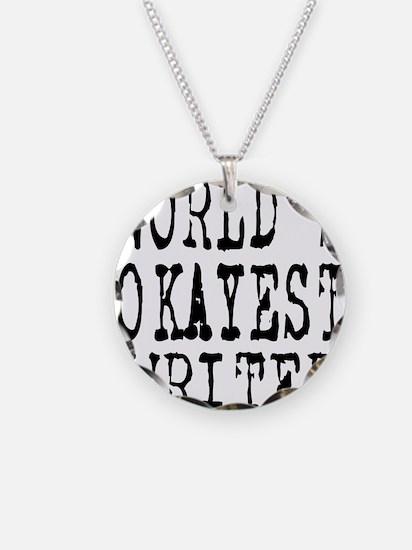 World's Okayest Writer Necklace