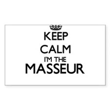 Keep calm I'm the Masseur Decal