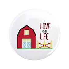 """I Love Farming 3.5"""" Button"""