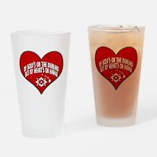 My Heart's In Hawaii Drinking Glass