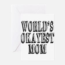 World's Okayest Mom Greeting Cards (Pk of 10)