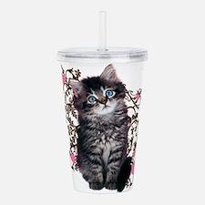 Cute Kitten Kitty Cat Acrylic Double-wall Tumbler