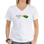 Christmas Cash Women's V-Neck T-Shirt