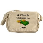 Christmas Cash Messenger Bag