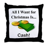 Christmas Cash Throw Pillow