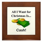Christmas Cash Framed Tile