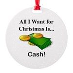 Christmas Cash Round Ornament