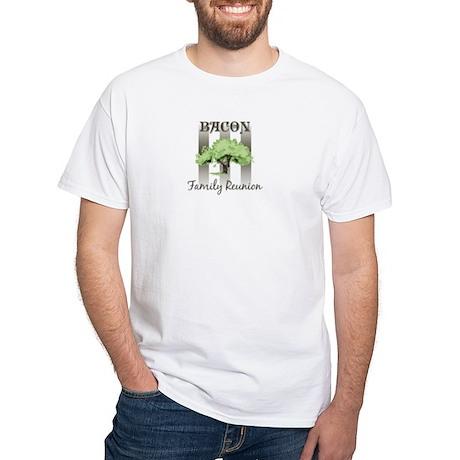 BACON family reunion (tree) White T-Shirt
