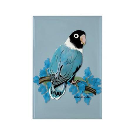 Blue Masked Lovebird Rectangle Magnet (10 pack)
