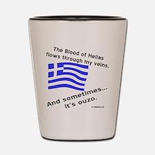 Greek Blood and Ouzo Shot Glass