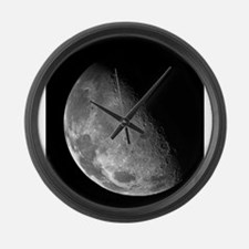 Moon by Galileo Spacecraft Large Wall Clock