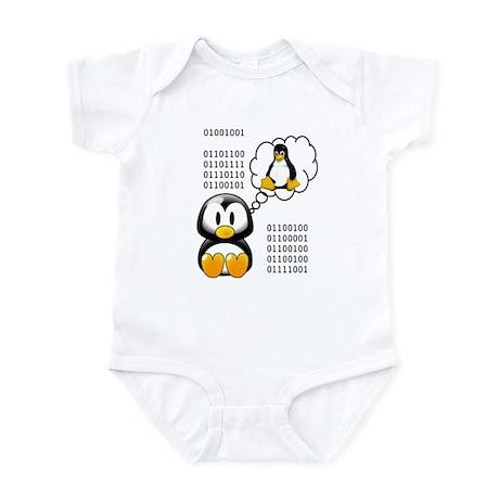 """""""I love daddy"""" binary Infant Bodysuit"""