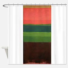 ROTHKO PEACH GREEN BROWN Shower Curtain