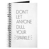 Inspirational sparkle Journals & Spiral Notebooks