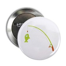 """Go Fishing! 2.25"""" Button (10 pack)"""