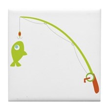 Go Fishing! Tile Coaster