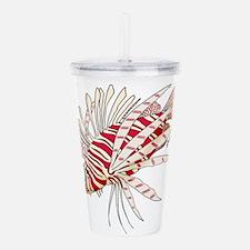 lionfish solo.psd Acrylic Double-wall Tumbler