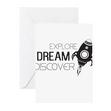 Explore Dream Discover Greeting Cards