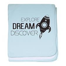 Explore Dream Discover baby blanket