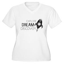 Explore Dream Discover Plus Size T-Shirt