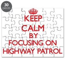 Keep Calm by focusing on Highway Patrol Puzzle