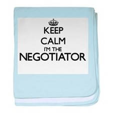 Keep calm I'm the Negotiator baby blanket