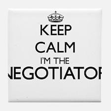 Keep calm I'm the Negotiator Tile Coaster