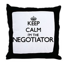 Keep calm I'm the Negotiator Throw Pillow
