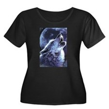 moon wolf Plus Size T-Shirt