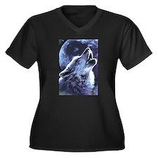 moon wolf Plus Size T-Shirt