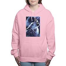 moon wolf Women's Hooded Sweatshirt