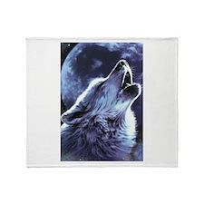moon wolf Throw Blanket