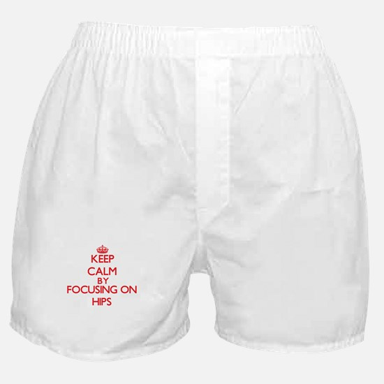 Keep Calm by focusing on Hips Boxer Shorts