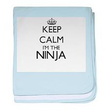 Keep calm I'm the Ninja baby blanket