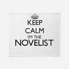 Keep calm I'm the Novelist Throw Blanket